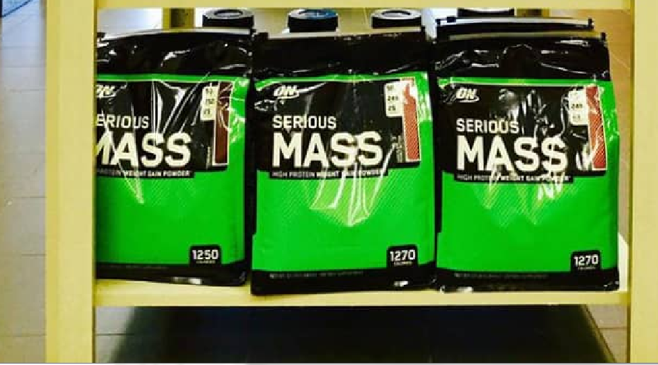 Three Optimum Nutrition (ON) Serious Mass Weight Gainer Powder - 12 lbs, 5.5 kg (Chocolate)